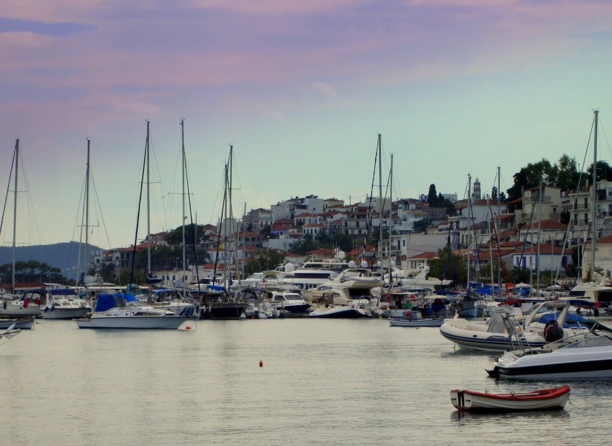 Zdjęcia: Skiathos Town, Sporady Północne, Nowy port, GRECJA