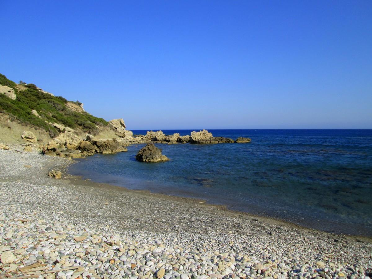 Zdjęcia: okolice Gennadi, Rodos, Kawałek plaży, GRECJA