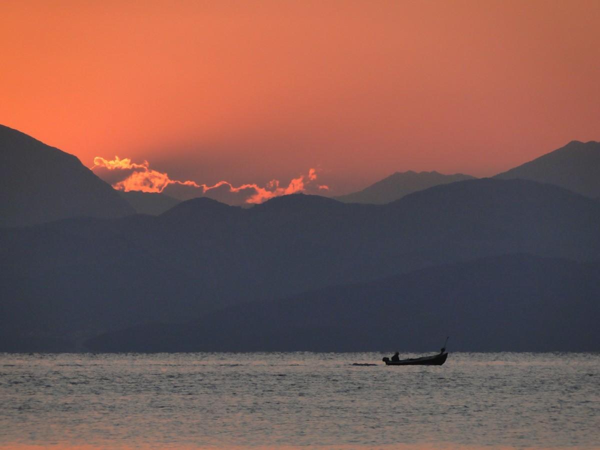 Zdjęcia: Korfu, Wyspy Jońskie, Świt na Korfu., GRECJA