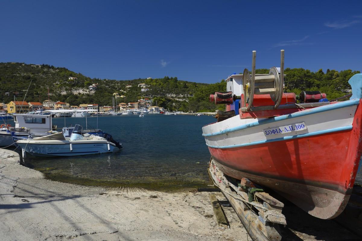 Zdjęcia: Paxos, Wyspy Jońskie , port w Gaios, GRECJA