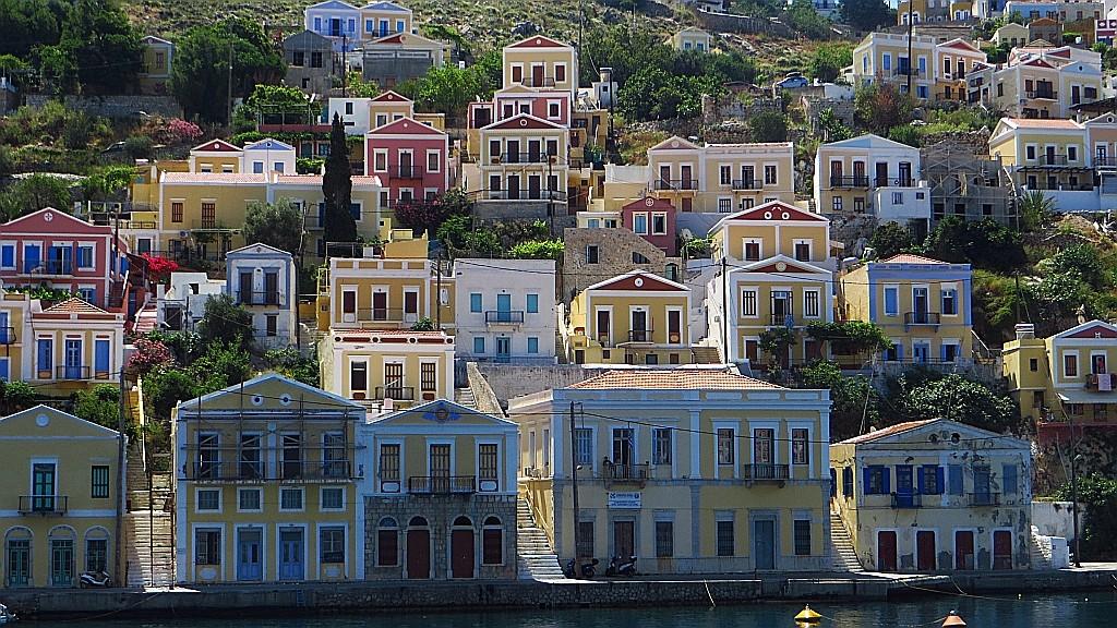Zdjęcia: Simi, Archipelag Dodekanez, kolorowe domki, GRECJA