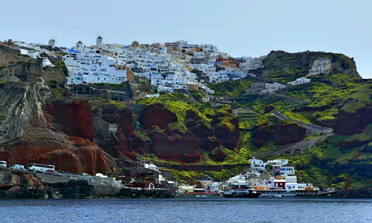 Zdjęcia: Santorini, Cyklady, Oia z właściwej strony, GRECJA