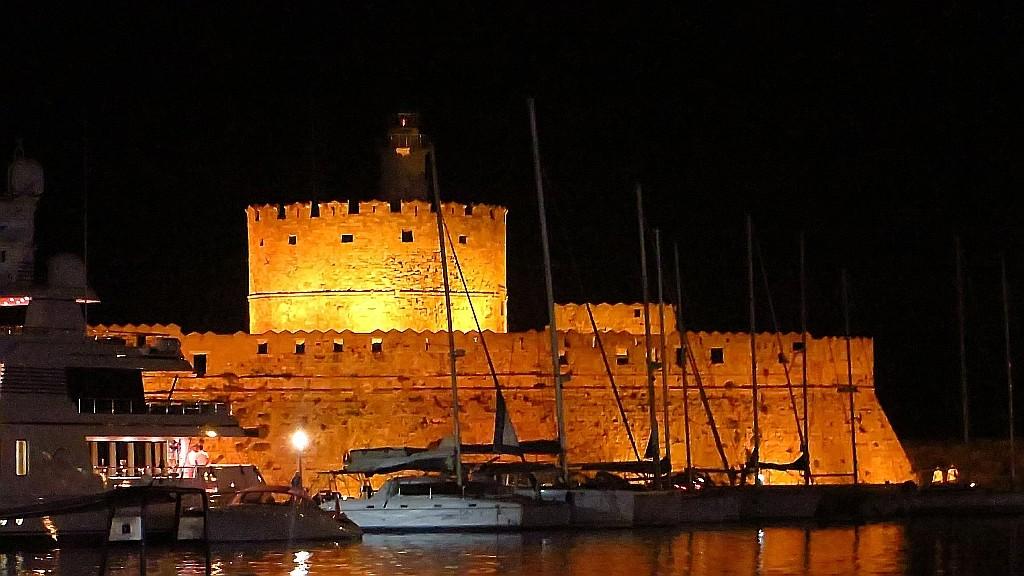 Zdjęcia: Wyspa Rodos - Rodos, Archipelag Dodekanez, wieża św. Mikołaja, GRECJA