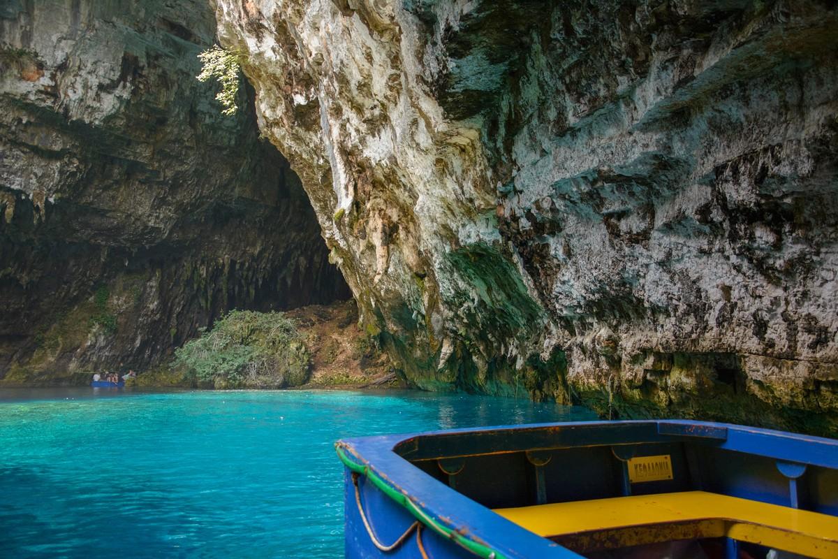 Zdjęcia: Kefalonia, Wyspy Jońskie , jaskinia i jezioro Melissani, GRECJA
