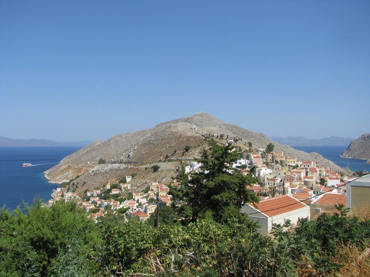 Zdjęcia: SIMI, SIMI, Simi - widok ze wzgórza zamkowego, GRECJA