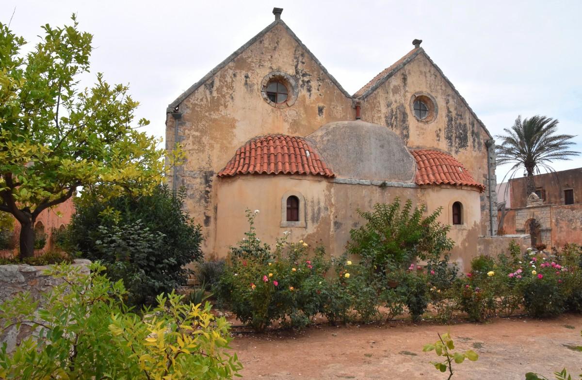 Zdjęcia: północno-zachodnie zbocze masywu Psiloritis, Kreta, Klasztor Arkadi, GRECJA