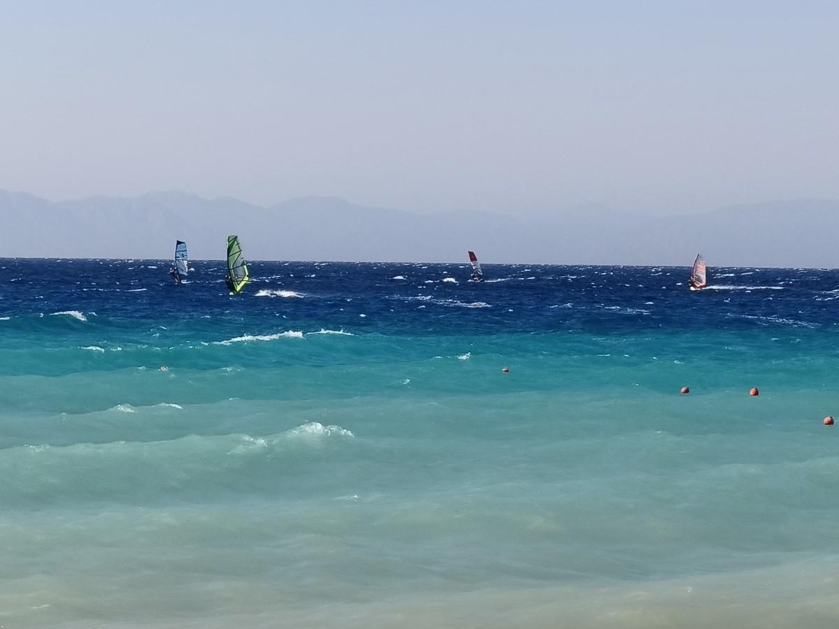 Zdjęcia: Ialissos, Rodos, Wietrzna plaża, GRECJA