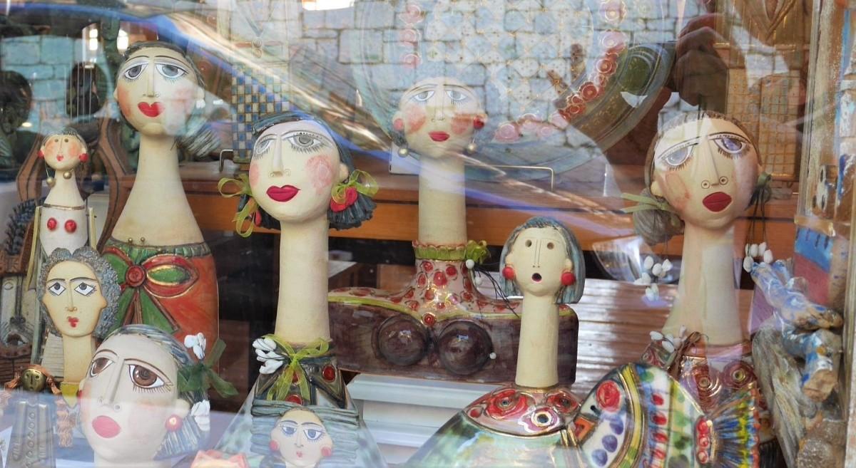 Zdjęcia: przed sklepem, To było w Delfach, Sklepowa wystawa, GRECJA