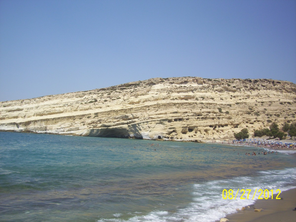 Zdjęcia: Matala, Kreta, Klif w Matali, GRECJA