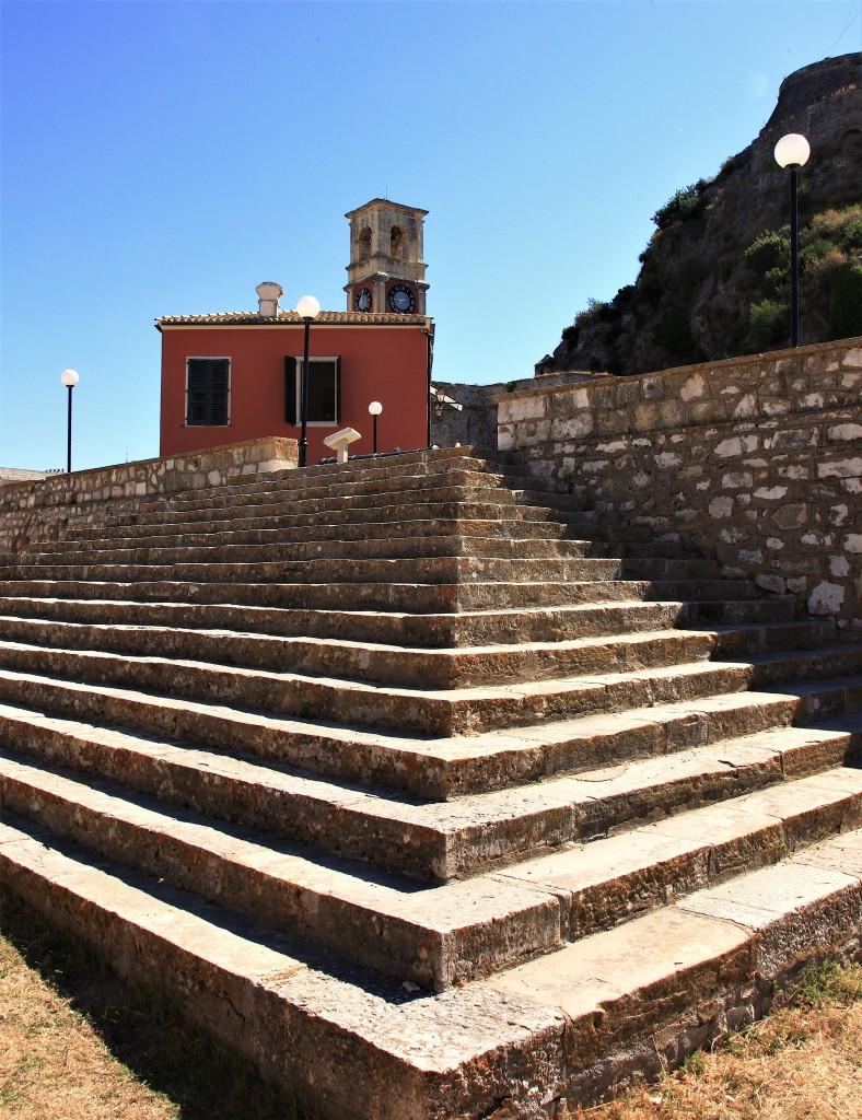 Zdjęcia: Stara Forteca,  Korfu, Schody, GRECJA