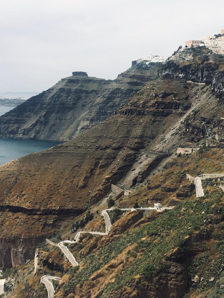 Zdjęcia: Fira - Santorini, Zejście do portu , GRECJA