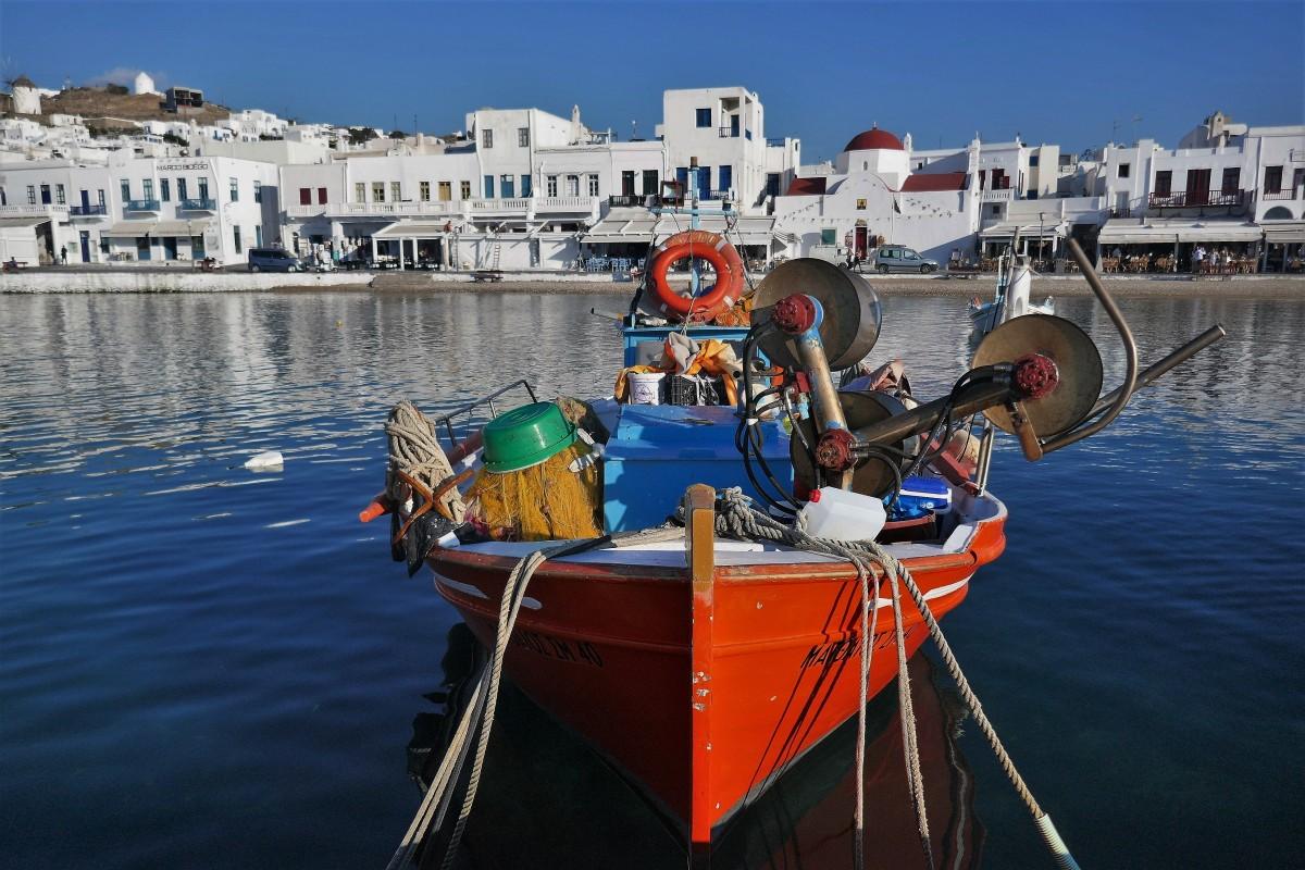 Zdjęcia: Wyspa Mykonos, Cyklady, Co jest potrzebne rybakowi..., GRECJA