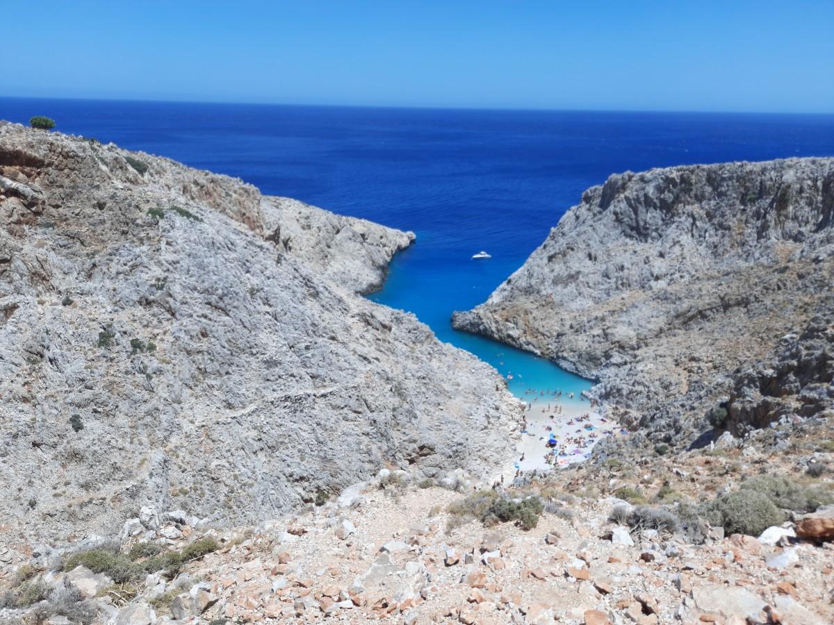 Zdjęcia: Półwysep Akrotiri, Krets, Seitan Limani, czyli plaża szatana, GRECJA