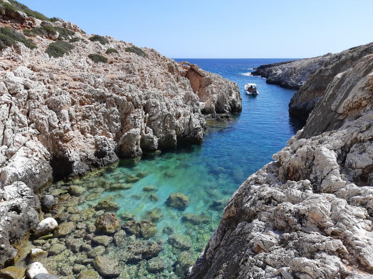Zdjęcia: Półwysep Akrotiri, Kreta, Na końcu wąwozu Avlaki, GRECJA