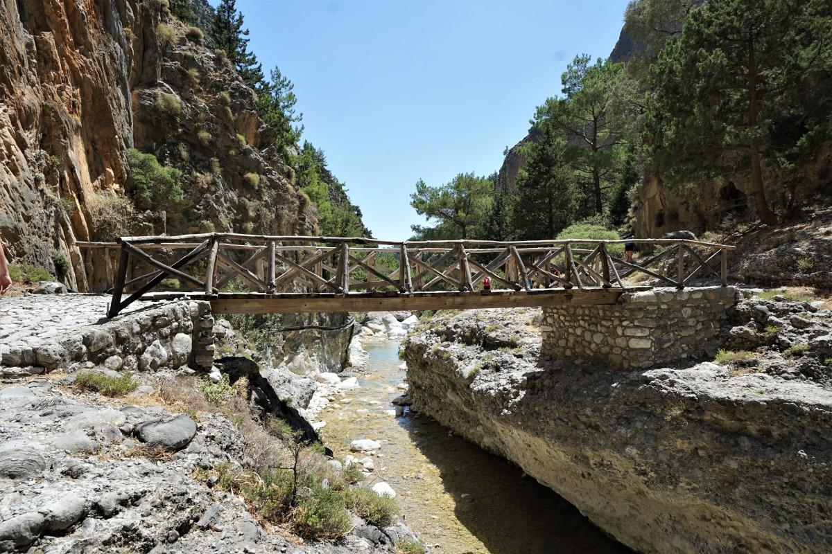 Zdjęcia: Wąwóz Samaria, Kreta, Mostek, GRECJA