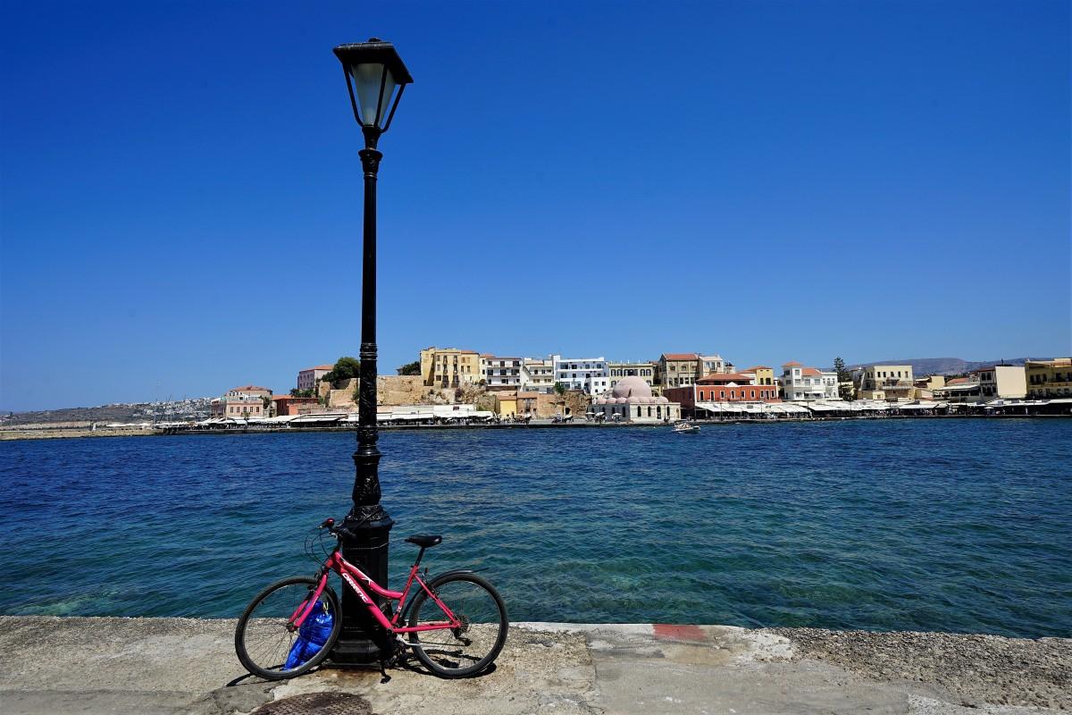 Zdjęcia: Chania, Kreta, Rower, GRECJA