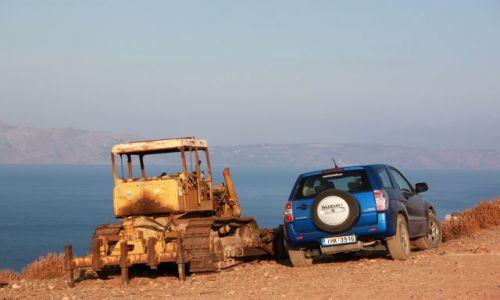 Zdjęcie GRECJA / Kreta / Balos / AUTA 3 Żłomek i nowy przyjaciel