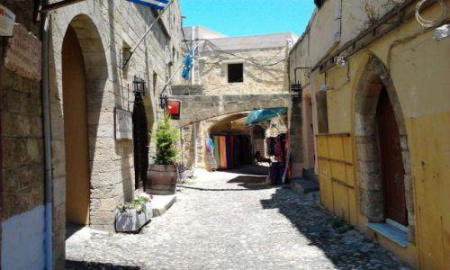 Zdjęcie GRECJA / Dodekanez / Rodos / Uliczka starego miasta