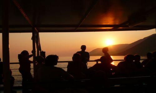 Zdjecie GRECJA / Kreta / Prom na morzu Libijskim / Zachód