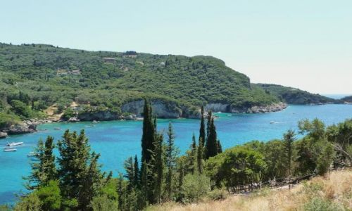 Zdjecie GRECJA / Korfu / Paleokatritsa / Lazur zatok Paleokatritsy niepowtarzalny:)