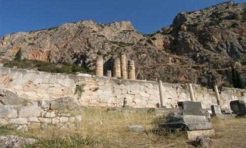 Zdjęcie GRECJA / - / Delfy / Świątynia Apollina