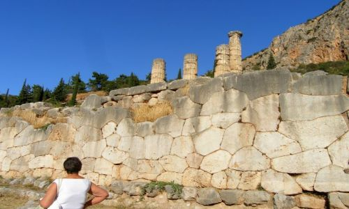 Zdjęcie GRECJA / - / Delfy / Najstrszy mur