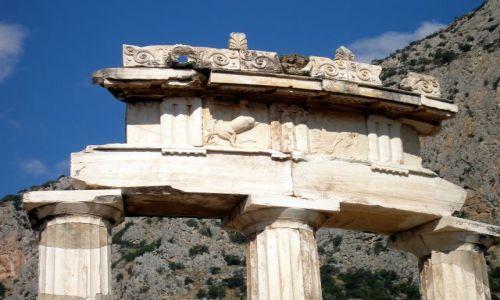 Zdjęcie GRECJA / - / Delfy / Światynia Ateny