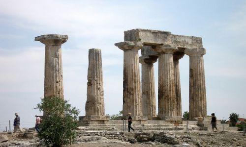 Zdjęcie GRECJA / Peloponez / Korynt / Świątynia Apollina