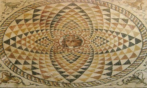 Zdjęcie GRECJA / Peloponez / Korynt / Hipnotyzująca mozaika
