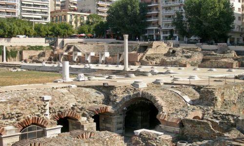 Zdjęcie GRECJA / - / Saloniki / Renowacja (modernizacja) rzymskiej agory.
