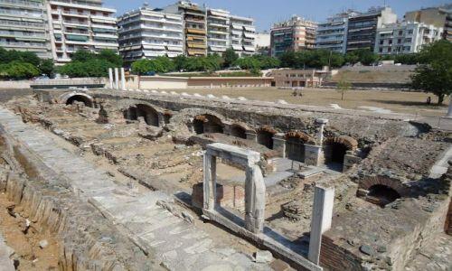 Zdjęcie GRECJA / Macedonia / Saloniki / Wykopaliska w centrum