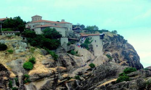 Zdjęcie GRECJA / - / Kalampaka / Klasztor na skale