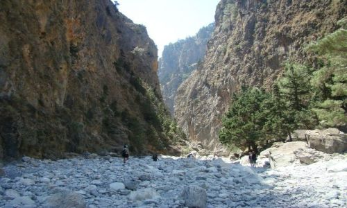 Zdjecie GRECJA / - / Kreta - Wąwóz Samaria / Korytem rzeki