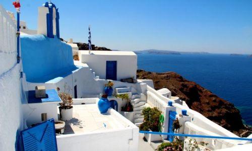 Zdjecie GRECJA / Santorini / Oi / wielki błekit