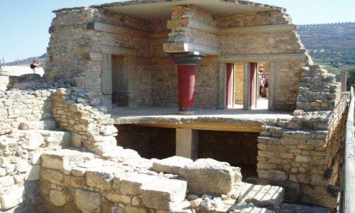 Zdjęcie GRECJA / Kreta / Knossos / Ruiny Palacu w Knossos