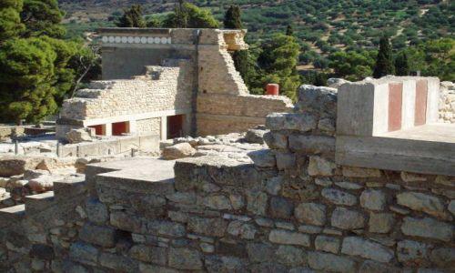 Zdjecie GRECJA / Kreta / Knossos / Ruiny Palacu w Knossos
