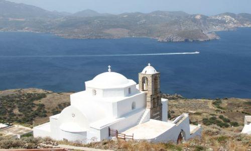 Zdjęcie GRECJA / Cyklady Milos / Plaka / samotny kościółek