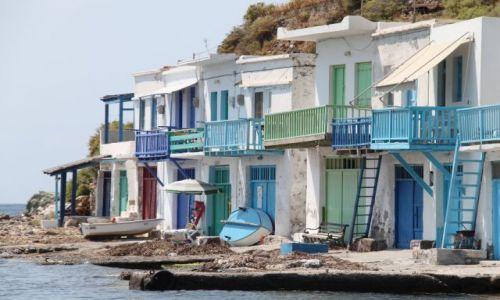 Zdjęcie GRECJA / Cyklady Milos / Klima / Domki z widokiem