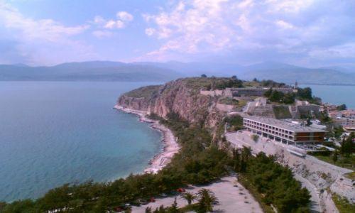 Zdjęcie GRECJA / - / Nafplion / Widok z Zamku Palamidi