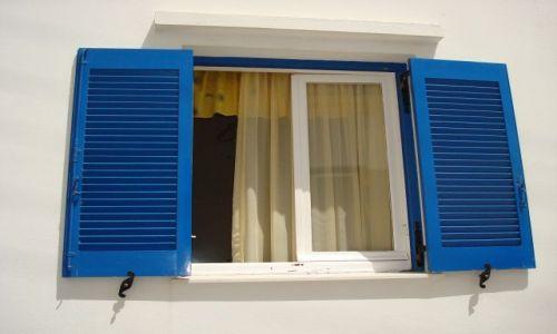 Zdjecie GRECJA / cyklady / paros/parikia / greckie okno na