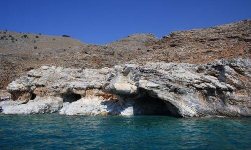 Zdjęcie GRECJA / Kreta / Marmara / Jaskinie plazy Marmara