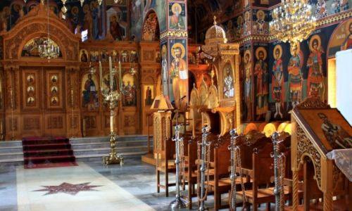 Zdjęcie GRECJA / Kreta Wsch. / Malia / Wnętrze Kościoła Greckiego.