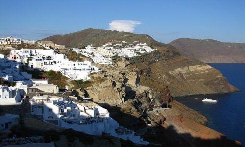 GRECJA / Cyklady / Santorini  / widok na kalderę