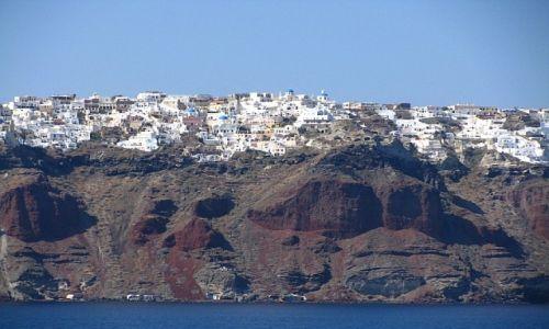 Zdjecie GRECJA / Cyklady / Santorini  / widok na Oia