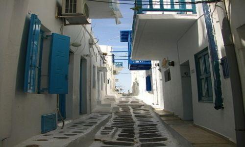 GRECJA / Cyklady / Mykonos / uliczki Hory