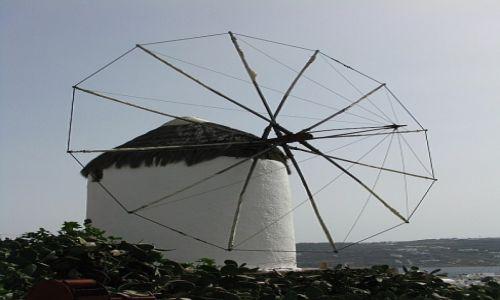 GRECJA / Cyklady / Mykonos / wiatrak
