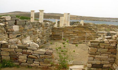 GRECJA / Cyklady / Delos / pozostałości rezydencji rzymskich