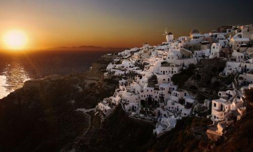 Zdjecie GRECJA / Santorini / Santorini / Zach�d s�o�ca n