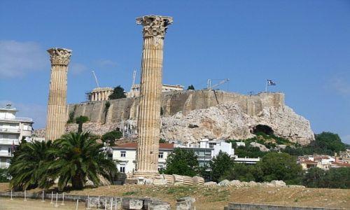 GRECJA / Ateny / Ateny / świątynia Zeusa Olimpijskiego