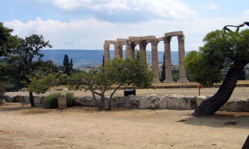 Zdjęcie GRECJA / brak / Ateny / Kolumny Świątyni Zeusa.